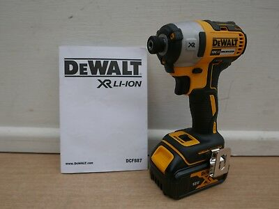 Dewalt Xr 18V Dcf887 Impact Driver Bare Unit + Dcb182 4 Ah Battery