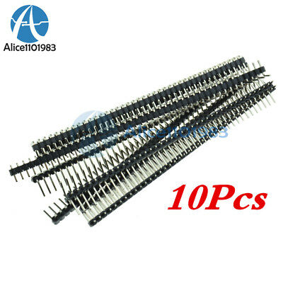 10PCS 40Pin 2.54mm Single Row Right Angle Pin Header Strip Arduino kit