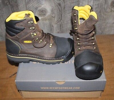 New Keen Milwaukee 1007976D Steel Toe Boots Mens Size 13 Brown Free Shipping