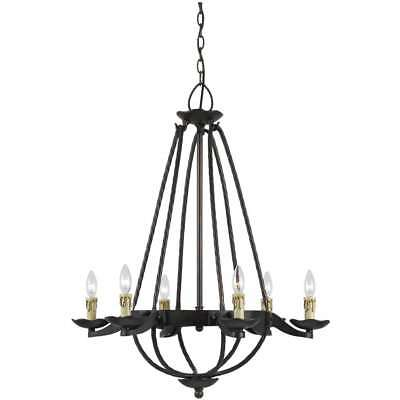 Mojave Iron 60W 6-Light Hand-Forged Chandelier
