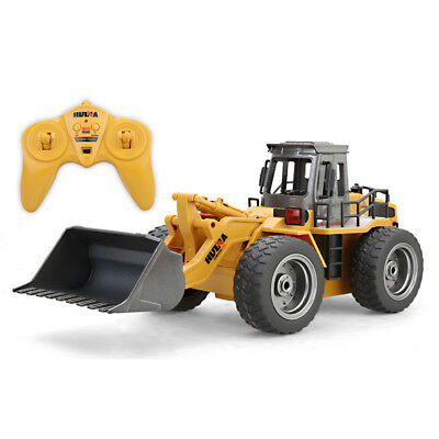 6CH Full Functional Remote Control Excavator Bulldozer Construction Toy Gift