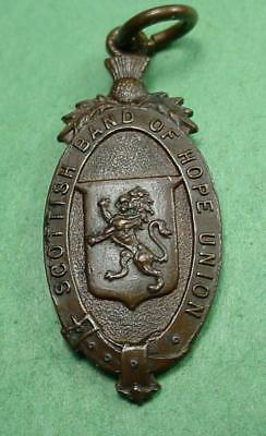 Scottish Temperance Medal 1872 Band Of Hope / Crusaders 35X15Mm Near Mint#ni1391