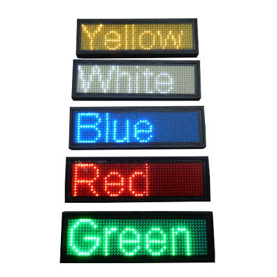 Mini LED Display Scrolling Moving Name Badge Tag Sign Message Board Programmable