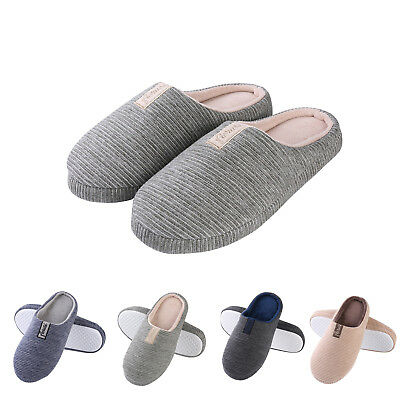 Aerusi Women Men Winter Warm Soft Slip On Slippers Memory Foam Indoor Home Shoes