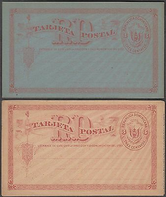 Dominica 2 Early Scarce Unused Postal Stationery Card's