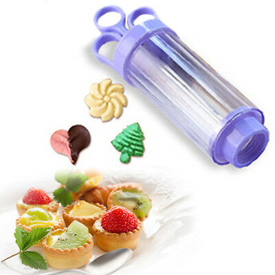 Household Cookie DIY Press Biscuit Gun with 10 Decorating Mould & 8 Nozzles Xmas