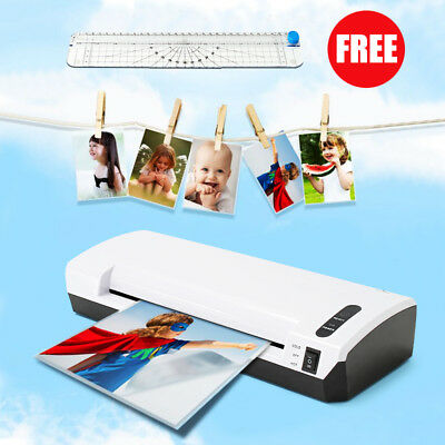 MECO A4 Paper Photo Laminator Roller Thermal Hot/Cold Laminating Machine Trimmer