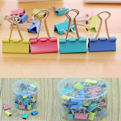 60Pcs 15mm Metal Binder Clips For Home Office School File Paper Organizer Clips