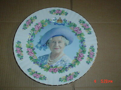 Crown Fine Bone China England TO COMMEMORATE 100TH BIRTHDAY OF QUEEN MOTHER