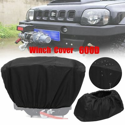 600D Winch Dust Cover Soft Black Waterproof 8,000-17,500 lbs Trailer ATV SUV New