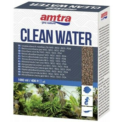 Amtra Cleanwater 1000 ml Elimina NO2 NO3 NH4 per Acquario