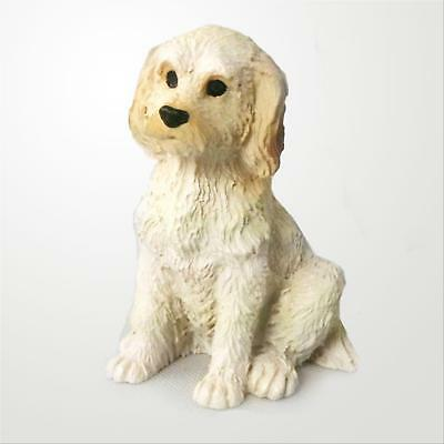 Labradoodle Cream Blond Dog Tiny One Miniature Small Hand Painted Figurine