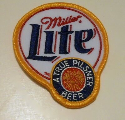 """Miller Lite Beer Embroidered Patch 3-5/8"""" inches"""