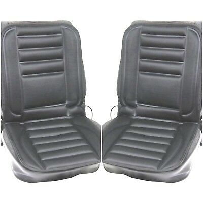 PAIR of 12v Thermal Seat Cover Heated Pad Car Van Universal Cushion Padded warm