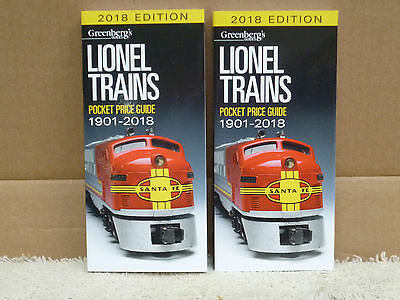 Two Greenberg's Guide To Lionel Trains 1901-2018 Pocket Price Guide