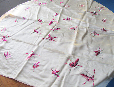 Antique Japanese Embroidery on Silk Butterflies
