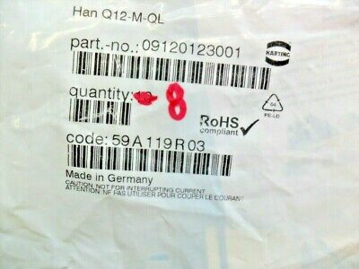 09380122601 NEW IN BOX HARTING 0938 012 2601