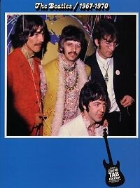 BEATLES 1967-1970 Best of Blue Guitar Tab