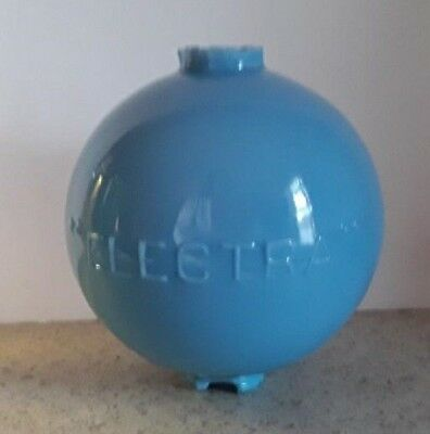 Blue ELECTRA Lightning Rod Ball Barn Garden Roof Top Yard Cabin Home Decor