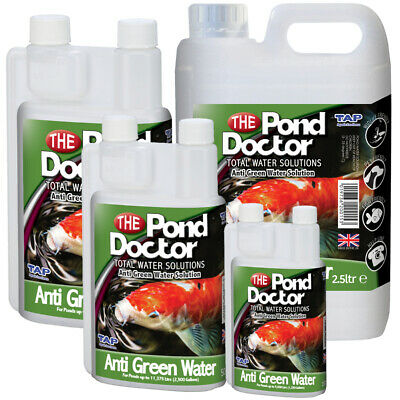 Pond Doctor Anti Green Water Algae Treatment TAP Koi Pond GreenWater Removal