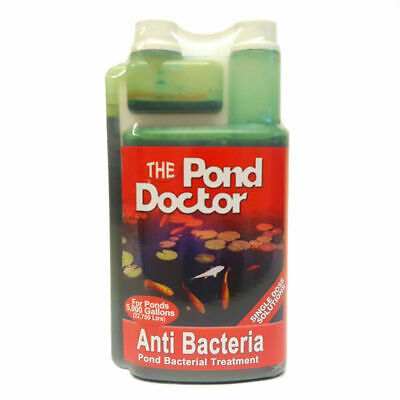 Pond Doctor Anti Bacteria Koi Fish Water Treatment Ulcers Fin Rot Sores Disease