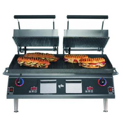 Star - CG28IE - Pro-Max® 28 in Grooved Sandwich Grill with Electronic Timer