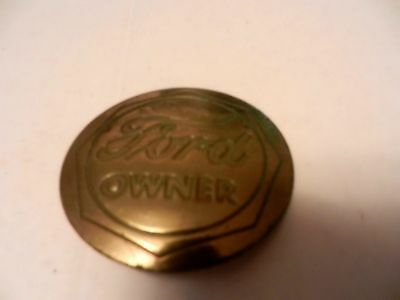"Ford Owner Brass Badge, 1.75"" Diameter, Used"