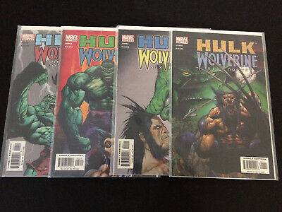 HULK/WOLVERINE: SIX HOURS #1, 2, 3, 4 VFNM Condition