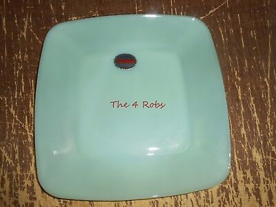 Vintage New Old Stock Fire King Jadeite Charm Square Plate 8 1/4""