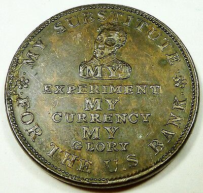 1834 Hard Time Token L8 HT9 My Victory Andrew Jackson Wild Pig