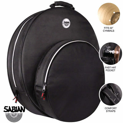 Sabian Fast 22 Inch Cymbal Bag with Back Pack Hi Hat Compartment Black
