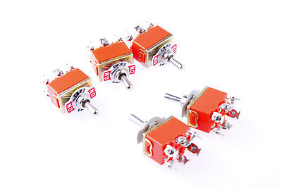 5Pcs DPDT AC 250V 15A Amps Toggle Switch 3 Position ON/OFF/ON US Shipping
