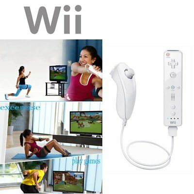 Remote and Nunchuck Controller Set Combo + Case Skin For Nintendo Wii &Wii U SD
