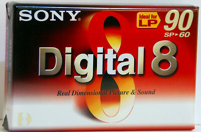 SONY N8-60P2 Digital 8  D8 Camera Tape New & Sealed 60 mins SP  90mins LP