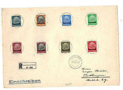 1941 Luxembourg Occupation Oversize Cover Registered to Tullingen Germany