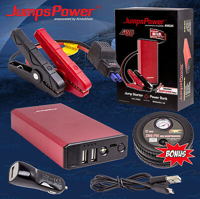 Jumpspower Amg8S Smart Booster Charger Starts Petrol Diesel Engines + Compressor