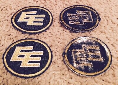 Lot of 2 Edmonton Eskimos CFL Football Golf Shirt Hat Crest Patch Set