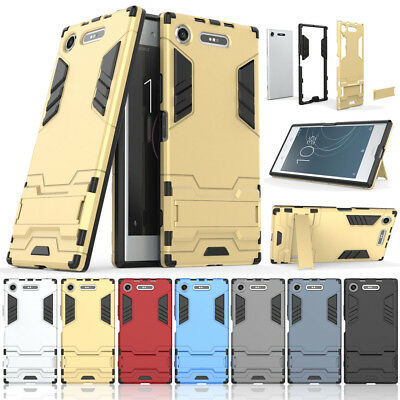 Shockproof Case Hybrid Armor Kickstand Protective Phone Cover Fr Sony Xperia XA1
