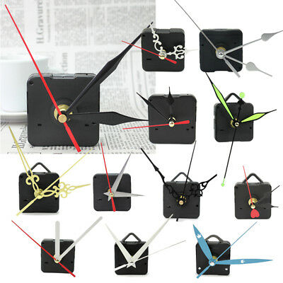 New Black Quartz Wall Clock Movement Mechanism DIY Repair Tool Replace Parts Kit