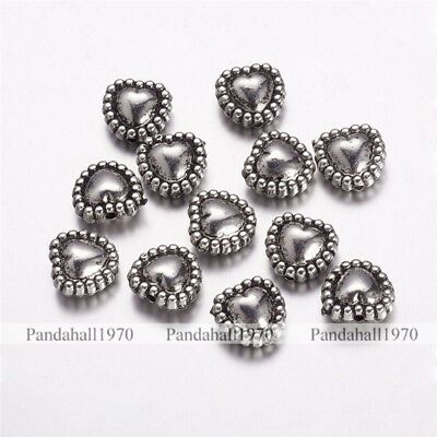 10 Pcs Antique Silver Square CCB Style Acrylic Beads Crafts 26x26x6mm Hole 2mm