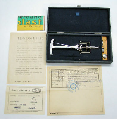 Vintage 1953 German Tonometer Ddr Mgf East Germany Berlin Box See