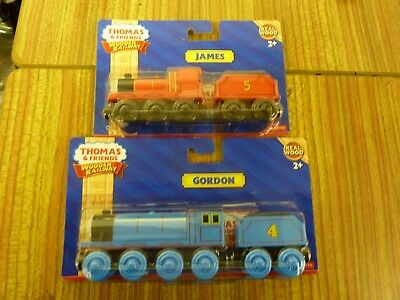 Fisher Price New Wooden Magnetic Trains In Packet