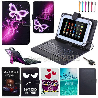 "AU For Samsung Galaxy Tab A/E/S/4 7""-10.1"" Tablet PU Leather Case Cover Keyboard"