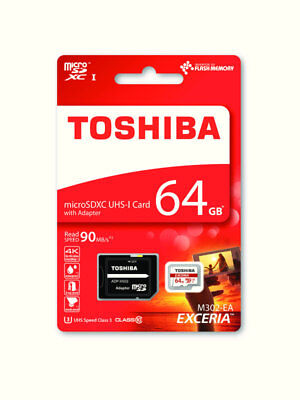 Toshiba 64GB EXCERIA M302 4k 90MBPS Micro SD With Adapter