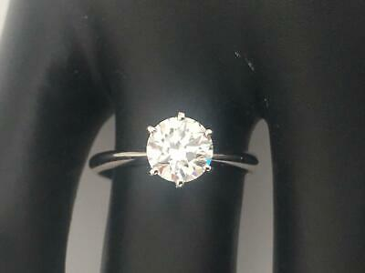 1.25 Ct Round Cut D/Si1 Real Diamond Engagement Ring 14K White Gold Gift Women