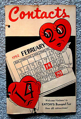 Eaton's Memorabilia Contacts Store News Booklet February 1952 hfc2