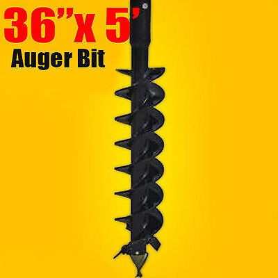 """36""""x 5' Auger Bit HDC 2"""" Hex, For Difficult Digging Conditions, Made In USA"""