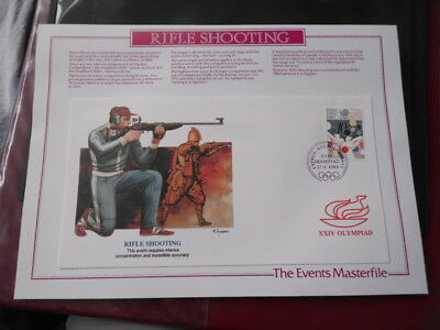 nickstampshop ~ Cyprus ~ 1988 Seoul Olympics ~ Official Fdc ( Rifle Shooting )