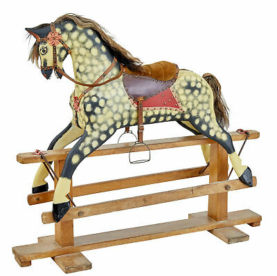 Late 19Th Century Large Rocking Horse By Collinson Of Liverpool