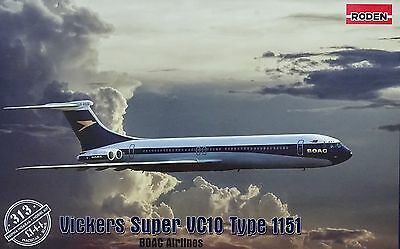 "RODEN® #313 Vickers Super VC10 Type 1151 ""BOAC Airlines"" in 1:144"